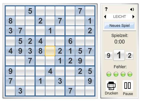Welt Online Sudoku