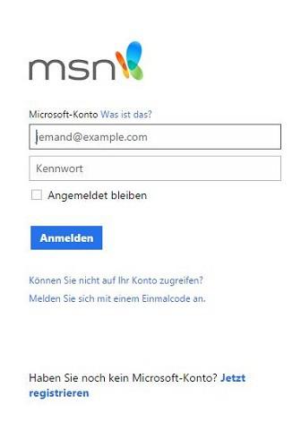 Login in msn Hotmail Sign