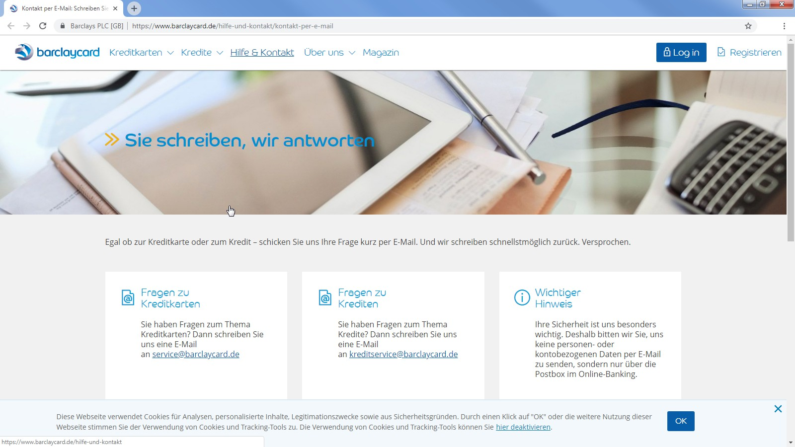 barclaycard customer service contact information and hotline